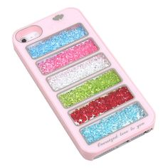 New Bling Rainbow Element Crystal Phone Cover Case