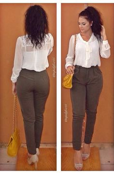 Maria Palafox ; Outfit for Work  business casual ;