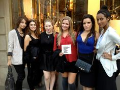 Americans in Paris for Fashion Night Out as seen on the corner of rue Royale and the Faubourg Saint Honoré