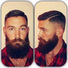 full thick dark beard and mustache two tone nice coloration beards bearded man men lumberjack style undercut handsome Lumberjack Style, Lumberjack Beard, Holiday Hairstyles, Men Hairstyles, Wedding Hairstyles, Funky Hairstyles, Formal Hairstyles, Epic Beard, Full Beard