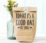 Kraft zak | today is a good day to smile | Mr. Wonderful