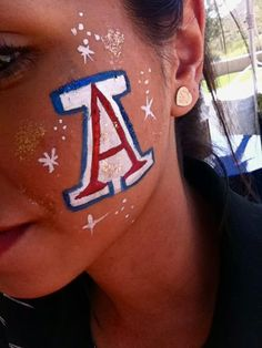 Game Day Face Paint #gameday
