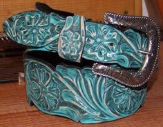 Dinevint - Belt Handcarved, Leather Lined,Taper - Appaloosa Trading Co Who Creates These Hand Crafted Leather & Sterling Silver Products