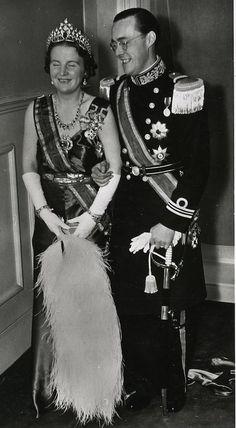 Queen Juliana of Netherlands and husband, Prince Bernhard
