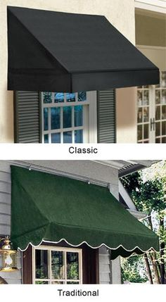Solid Window Awnings   You can install these in less than 30 minutes!