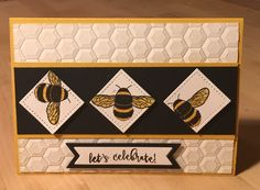 Dragonfly Dreams Stampin' Up! Bees, Hexagon Dynamics Embossing folder
