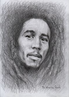 Bob Marley (sketch) by thedrawinghands on DeviantArt