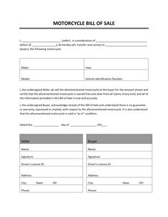 Printable Sample Vehicle Bill Of Sale Template Form Attorney Legal - Invoice jpg