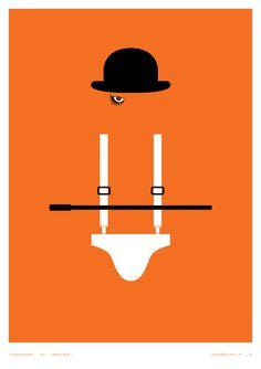 Alternative movie poster for A Clockwork Orange by Creative Sparks
