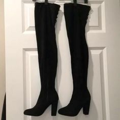 0abadbb759bd  35 size 7 Over The Knee Boots