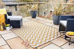 Perfect for today's indoor/outdoor lifestyle, the Florence Alfresco collection will take outdoor living to the next level. From traditional patterns to fashion forward bright colours, these easy-care rugs are durable and weather resistant. These flatwoven Outdoor Range, Outdoor Fire, Indoor Outdoor Rugs, Outdoor Area Rugs, Outdoor Spaces, Outdoor Living, Outdoor Decor, Small Balcony Decor, Yellow Rug