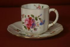 Royal Crown Derby Cup and Saucer Floral