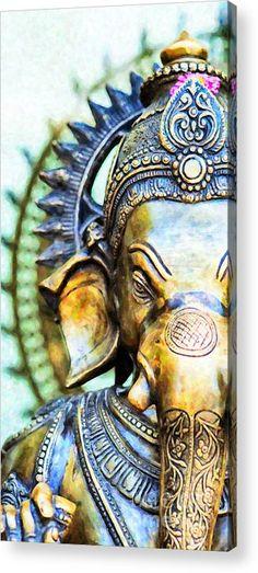 Ganesha Acrylic Print featuring the photograph Lord Ganesha by Tim Gainey