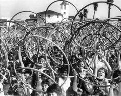 Hula Hoop Hoopla!  I was the last kid on the block to get a hula hoop, but I mastered it anyway.  Fun.