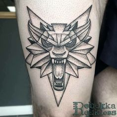 'School of the wolf' medallion! Done by @rebekkarekkless at Divine Art Tattoo Studio. Poole. #tattoo #tattoos #linework #dotwork #dotworktattoo #traditional #traditionaltattoo #wolftattoo #witcher3 #wildhunt #poole #pooletattoo #artist #artists #art #wolf #fusion @fusion_ink @cheyenne_tattooequipment @worldfamousink @ezcartridgecouk #ezcartridgeuk #fusionink #maletattoo #menstattoo @skinart_mag @skinart_collectors @skindeep_uk @totaltattoo @tattoo.artists @tattoochallenge @tattoodo…