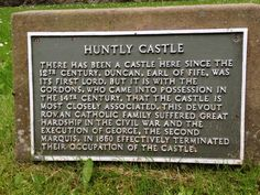 Huntly Castle in Huntly, Aberdeenshire