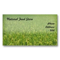 Beautiful Lush Green Rice Field Double Sided Standard Business Cards Pack Of This Great Card Design Is Available For Customization