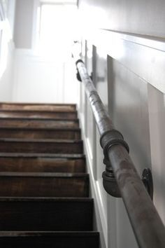 """Pipe Railing...old pipe handrail...Pipe handrail...pipe hand rail...Ooh pipe railing...pipe railing?...Iron pipes...Pipe handle...piping as handrail...pipes as railing...Pipe for a railing"""