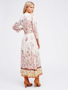 Britt Maren || FP If You Only Knew Efforrless Printed Maxi Dress (Ivory Combo)