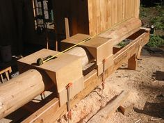 Round Post Joinery, Part 2 Japanese Carpentry, Beam Structure, Live Edge Wood, Post And Beam, Earthship, Wood Beams, Wood Construction, Log Homes, Joinery