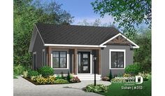 Discover the plan 3113 - Sisken from the Drummond House Plans house collection. Bungalow Exterior, Bungalow Homes, Bungalow House Plans, Ranch Style Homes, Cottage House Plans, Cottage Homes, Farm House, Building A Small House, Small House Floor Plans