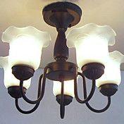 Floral Shade lysekrone, 5 Light, Klassisk Mal... – NOK kr. 1.348