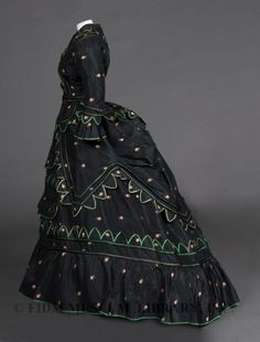 Afternoon Dress, 1870s.