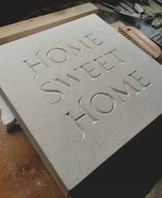 Www.carvedstoneletters.co.uk Andrew James hand carved letters.