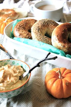 ~C~ *Pumpkin spiced cream cheese with bagels ValSoCal: Breakfast