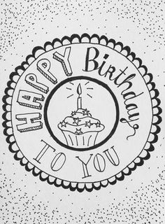 Handlettering happy christmas to you Handlettering Happy Birthday, Happy Birthday Font, Birthday Letters, Birthday Message, Tarjetas Diy, Birthday Card Drawing, Bday Cards, Hand Lettering Quotes, Homemade Cards