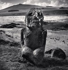 Michael Kenna ~ Moai, Study 45, Tukuturi, Rano Raraku, Easter Island, 2001