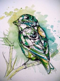 Abby Diamond: college student, observer of birds, super-skilled watercolor and ink artist… this girl is going to go places. I love the layered look in her pieces (watercolor painting + ink … Diamond Art, Animal Art, Watercolor, Drawings, Illustration Art, Watercolor Bird, Art Inspiration, Inspiring Art Prints, Bird Art