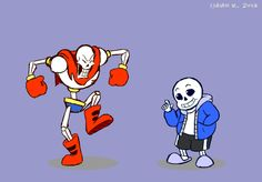 Papyrus and Sans - gif