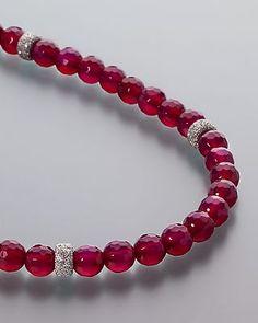 Elegantes Collier mit unwiderstehlichem pink Achat beh. + Sternrondellen 388649 3-3879a