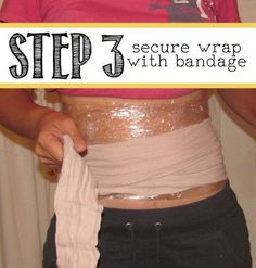 DIY Body Wrap on I Heart Nap Time ... lose up to 1-2 inches overnight!