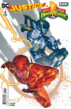 This time around we cover all six issues of Justice League/Power Rangers team-up series! And since Ted knows nothing about the Power Rangers, he brought in Matt Henderson, Mike Wellman, Alex Heady, and Alice Kilvington to bring their perspectiv Power Rangers Rosa, Power Rangers 2016, Power Rangers Comic, Desenho Do Power Rangers, Comic Book Covers, Comic Books, Star Trek, Power Ranger Black, Marvel Comics Superheroes