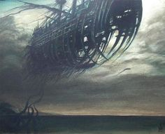paranormal pictures and images Blasted Lands, Legend Of The Seas, Paranormal Pictures, Ghost Ship, Black Sails, Merfolk, Pop Surrealism, Ship Art, Tall Ships