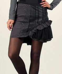 Look what I found on #zulily! Anthracite Ruffle Miniskirt by Angels Never Die #zulilyfinds