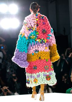 The Mythical Beings Knitted Coat - Prentice McCurdy Knitwear Fashion, Knit Fashion, Fashion Art, Fashion Outfits, Fashion Design, Fashion Textiles, Fashion Tips, Fashion Vestidos, Irish Fashion