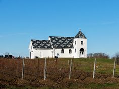 Closson Chase Winery, Prince Edward County  (I love that roof!)