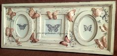 ^3RD. BUTTERFLY FRAME - Hand Paint (This is Originally made by Mirayshandmades - Miray Yildizli Taskiran From Turkey) mirayshandmades@gmail.com