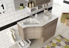 Laundry Room Cabinets, Bathroom Vanity Cabinets, Laundry In Bathroom, Sink, Sweet Home, Bathtub, Doors, House, Urban