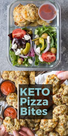 Keto Pizza Bites, perfect for keto meal prep! These easy pizza bites are loaded with Italian sausage and mozzarella! Perfect for keto meal prep and under 1 net carb per bite! Lunch Recipes, Low Carb Recipes, Diet Recipes, Healthy Dinner Recipes, Breakfast Recipes, Breakfast Hash, Diet Breakfast, Breakfast Ideas, Healthy Snacks