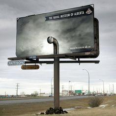 Affichage original : Pub pour le musée naval d'Alberta Street Marketing, Guerilla Marketing, Viral Marketing, Marketing Ideas, Tourism Marketing, Web Banner Design, Design Web, Graphic Design, Lion Design