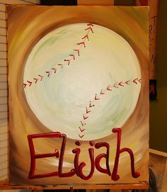 Hey, I found this really awesome Etsy listing at https://www.etsy.com/listing/174720789/personalized-baseball-painting-perfect
