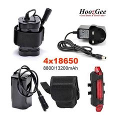 18650 Batteries Pack for Bike Bicycle Light Rechargeable UK Plug Charger 8.4V DC