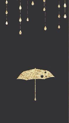 Gold raindrops