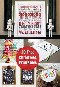 20 Free Christmas Printables You'll Love - diycandy.com