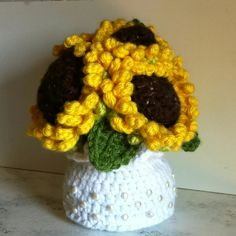 Crochet Sunflowers. My own design. No pattern.