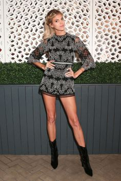 Devon Windsor in the CLINGER bootie at the SW x Vogue NYFW Dinner, Sept. 12, 2016